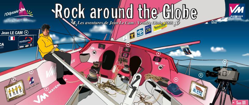 Visiter le site de Jean Le Cam sur le Vendée Globe