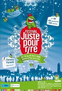 Affiche 2008 du festival juste pour rire à Nantes