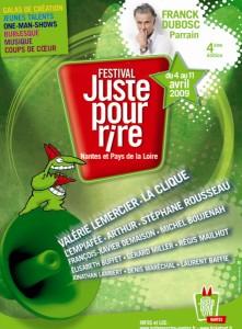 Affiche 2009 du festival juste pour rire à Nantes