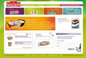 Site internet de Soignon : fromages de chèvre