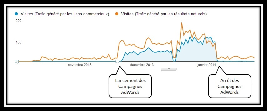 Google Analytics - Impact du SEA sur le SEO