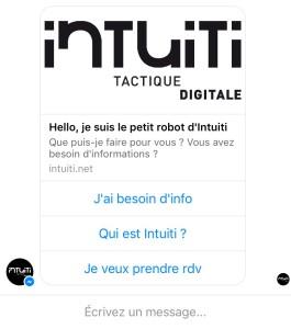 Bot messenger Intuiti