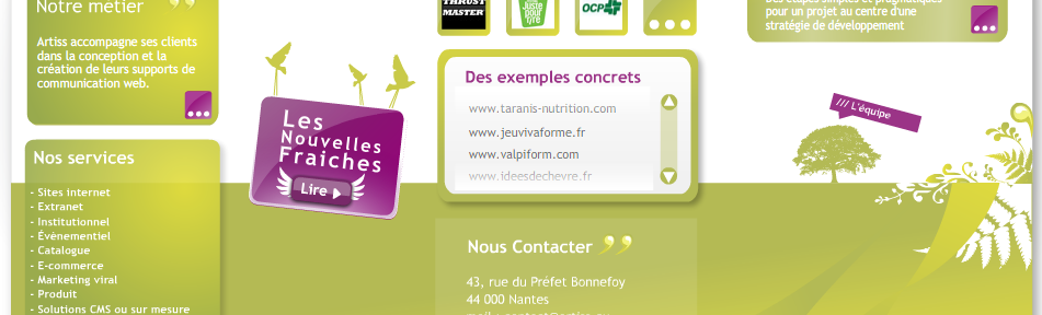ARTISS - Agence de communication interactive - Nantes