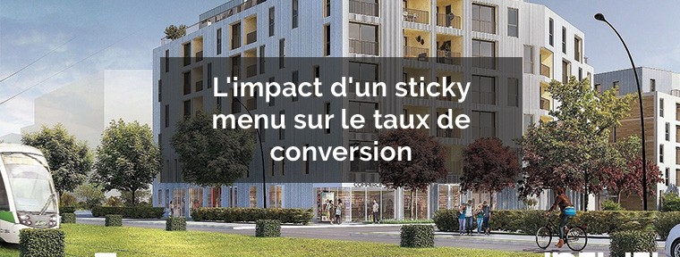 sticky menu conversion