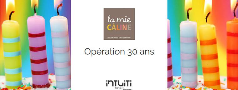 opération offline & online 30 ans la mie caline