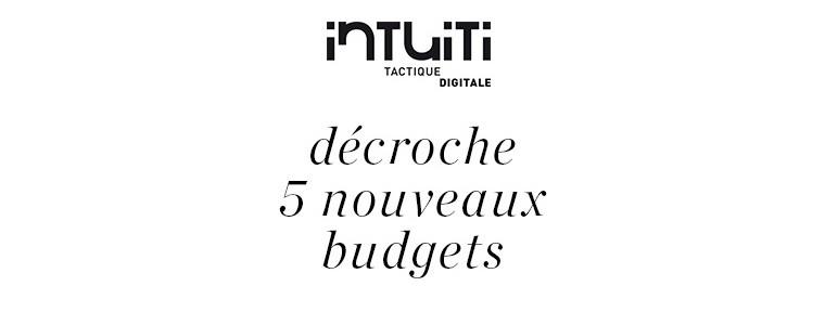 nouveaux budgets intuiti