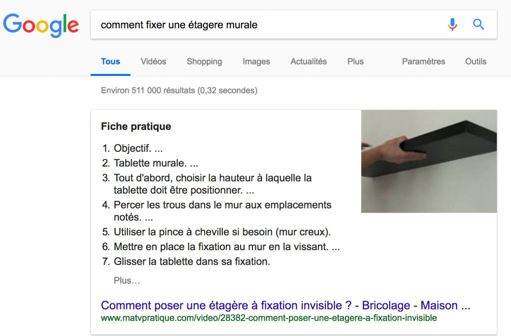 position 0 optimiser SEO