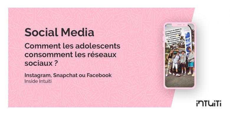 réseaux sociaux cible ados adolescents